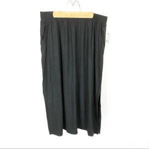 (U-01) Terra & Sky Black Maxi Skirt Size 0X 14W